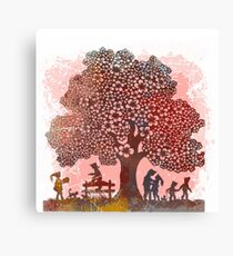 Playtime By The Tree Canvas Print