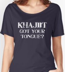 Khajiit 2 White for high necked Women's Relaxed Fit T-Shirt