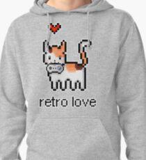 8 bit retro kitty Pullover Hoodie