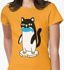 Penguin Cat Womens Fitted T-Shirt