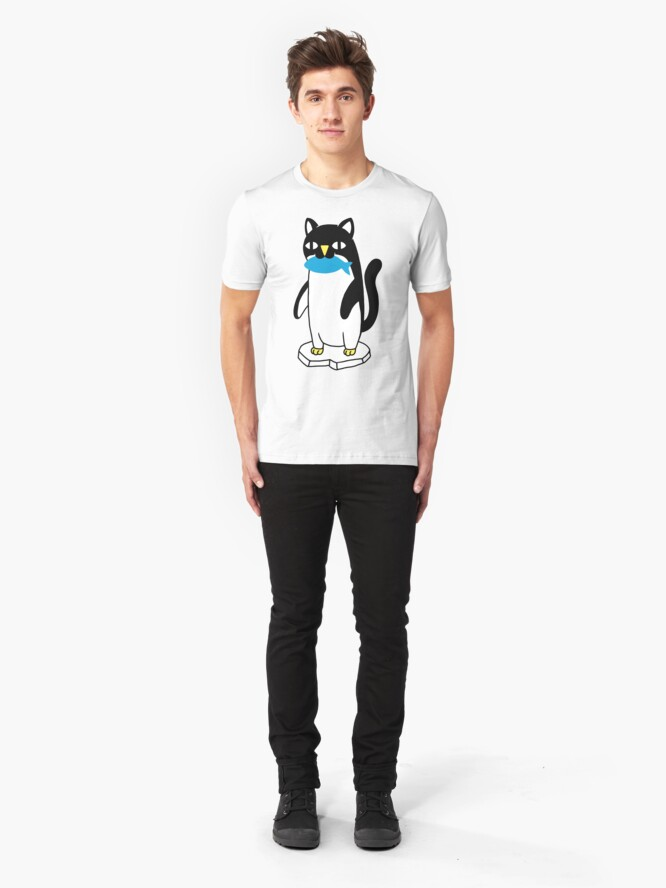 Alternate view of Penguin Cat Slim Fit T-Shirt