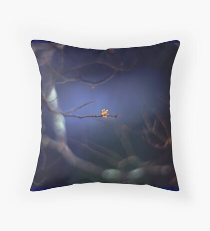 The mysterious little bud Throw Pillow