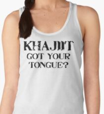 Khajiit 2 Black for low necked Women's Tank Top