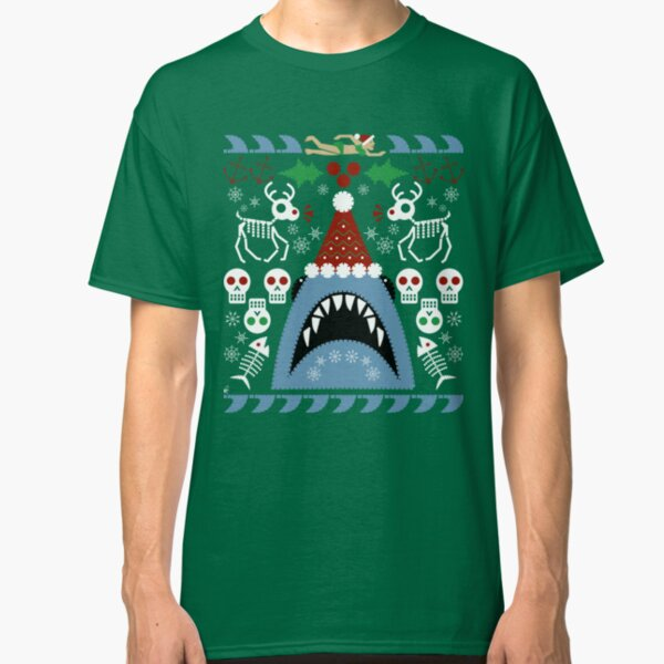 Santa Jaws Ugly Sweater Classic T-Shirt
