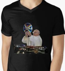 DJ Earth Pope Francis, EDM Holy Father Men's V-Neck T-Shirt