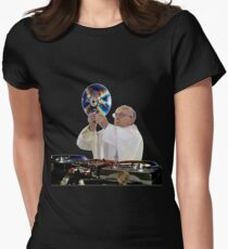 DJ Earth Pope Francis, EDM Holy Father Women's Fitted T-Shirt