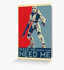 Halo 3 - Wake Me When You Need Me Greeting Card
