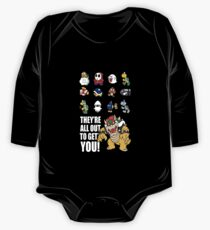 """""""They're All Out To Get You!"""" Mario Characters Design One Piece - Long Sleeve"""