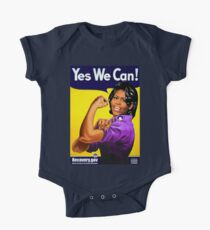 Recovery.gov Michelle Obama as Rosie The Riveter One Piece - Short Sleeve