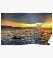 Sunset.Lake Tanganyika Poster