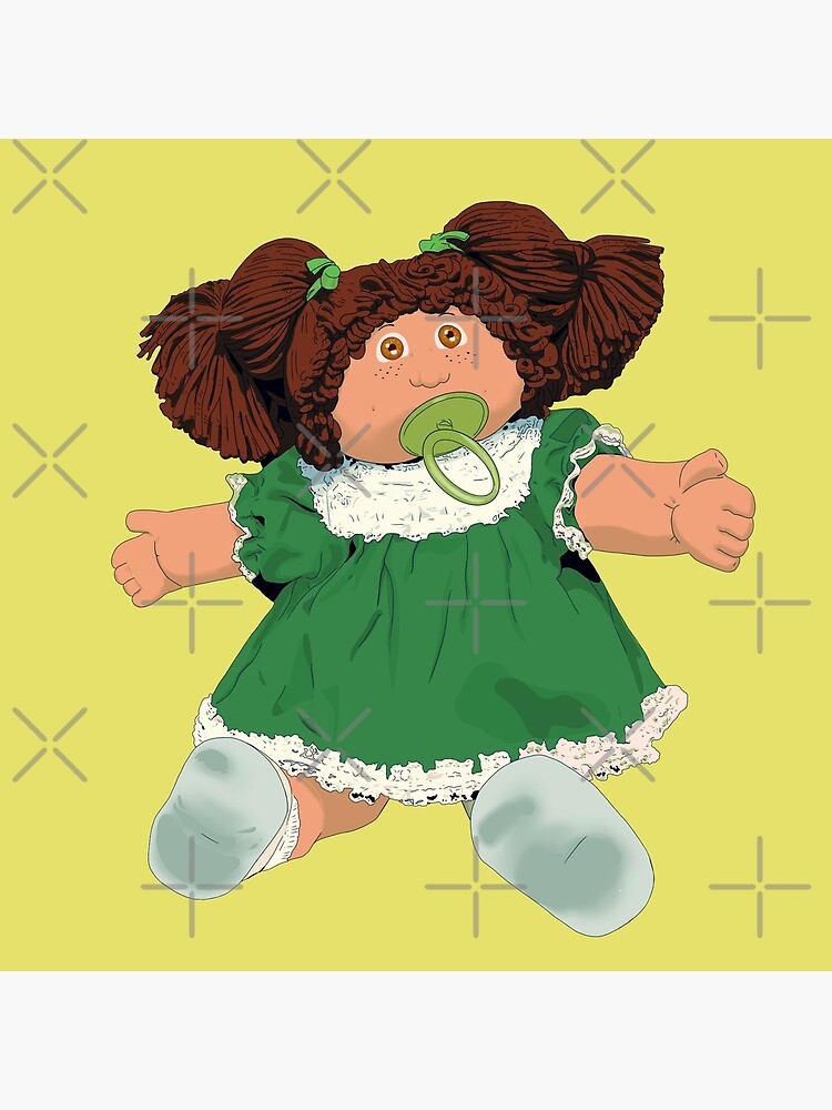 Cabbage patch kids doll brown hair by MimieTrouvetou