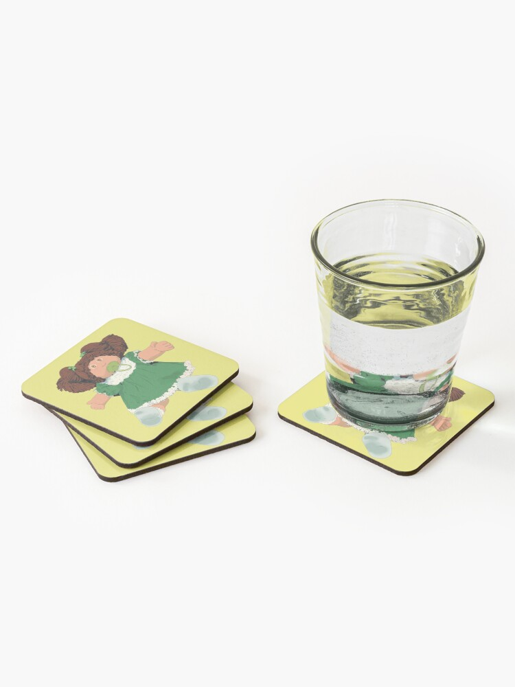 Alternate view of  Cabbage patch kids doll brown hair Coasters (Set of 4)