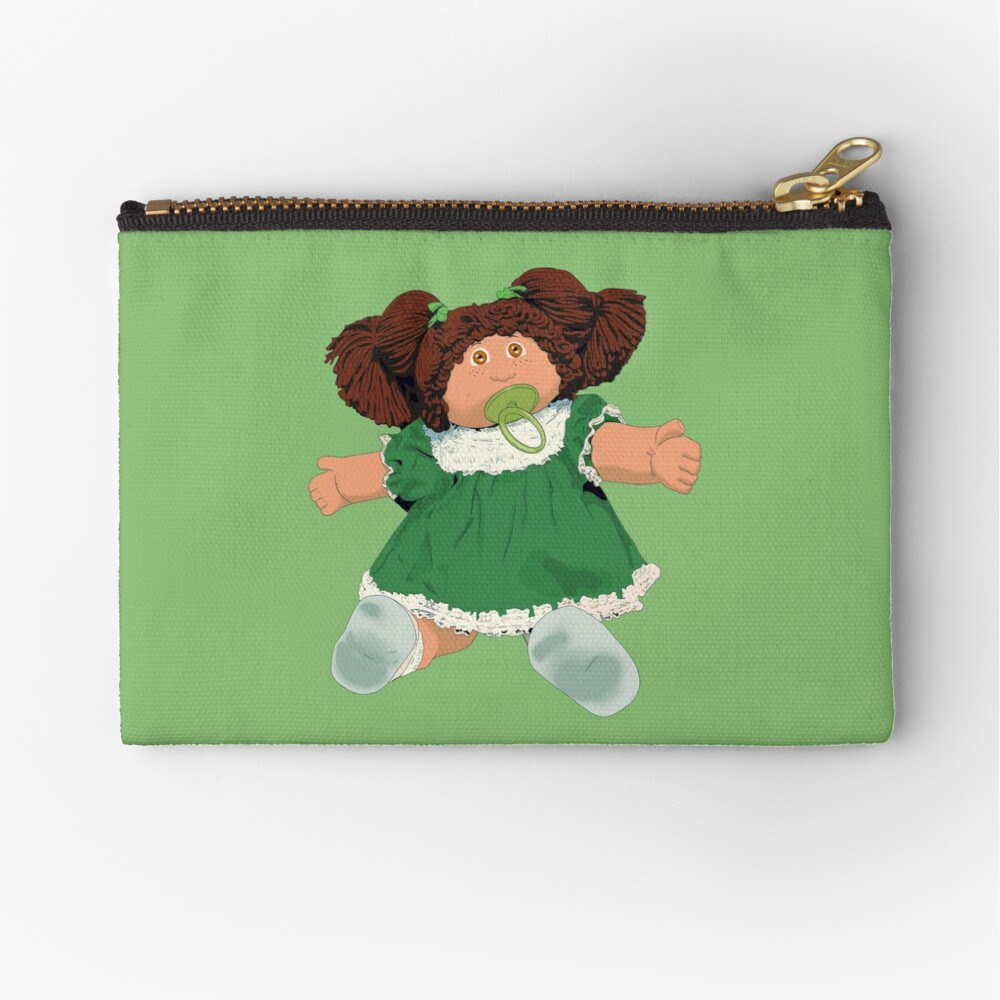 Cabbage patch kids doll brown hair Zipper Pouch