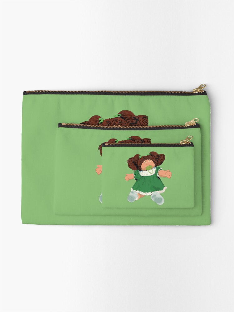 Alternate view of  Cabbage patch kids doll brown hair Zipper Pouch