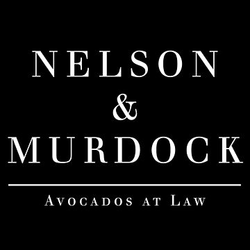 Nelson & Murdock: Avocados (White on Black) by cnfsdkid