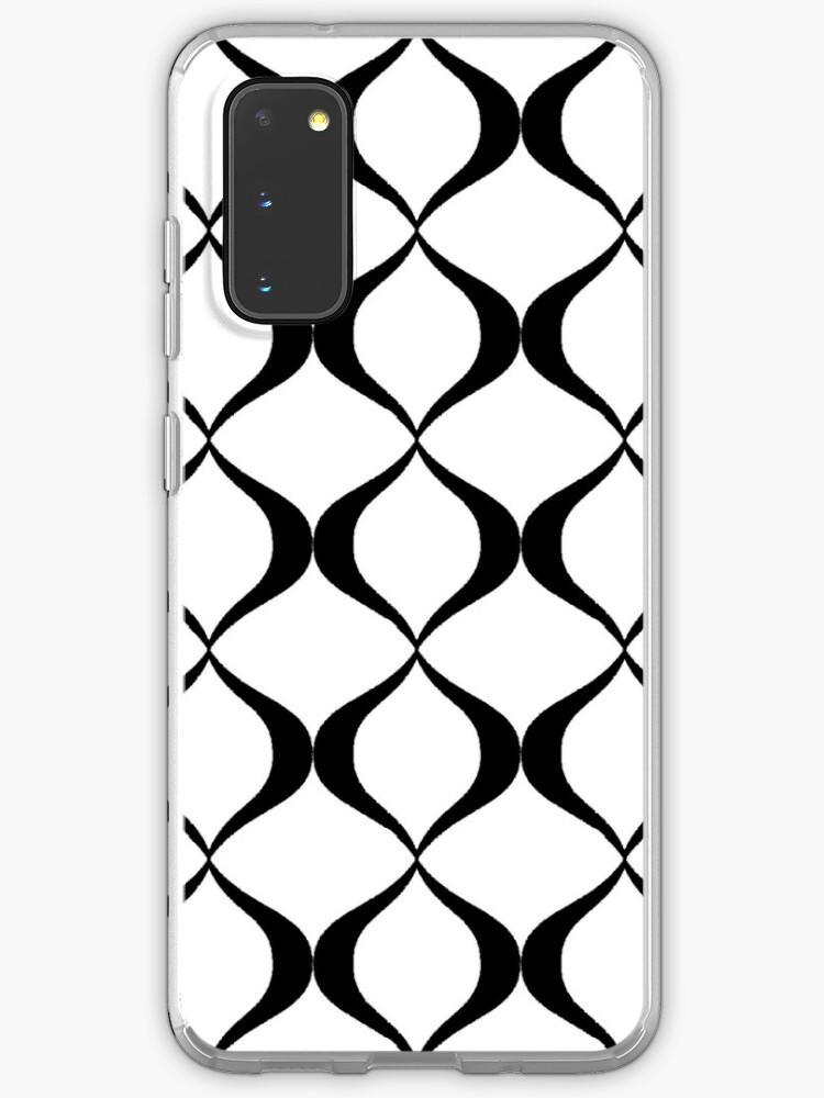 Black White Mod Wallpaper Case Skin For Samsung Galaxy By Nobodyshero Redbubble