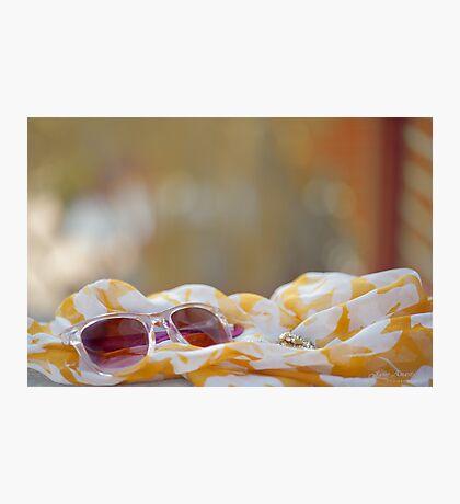 ...pink sunglasses........... Photographic Print