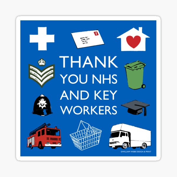 Thank you key workers Sticker