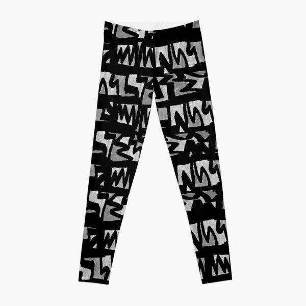 Graffiti-Style schwarz weiß Leggings