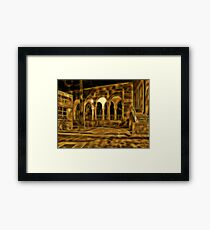 Beautiful courtyard with arches Framed Print