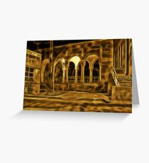 Beautiful courtyard with arches Greeting Card