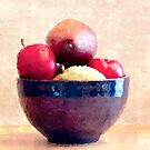 Blue Bowl with Fruit by Jay Reed