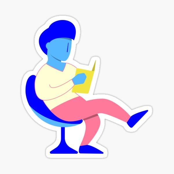 Reader guy Sticker