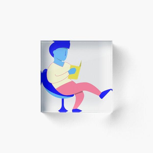 Reader guy Acrylic Block