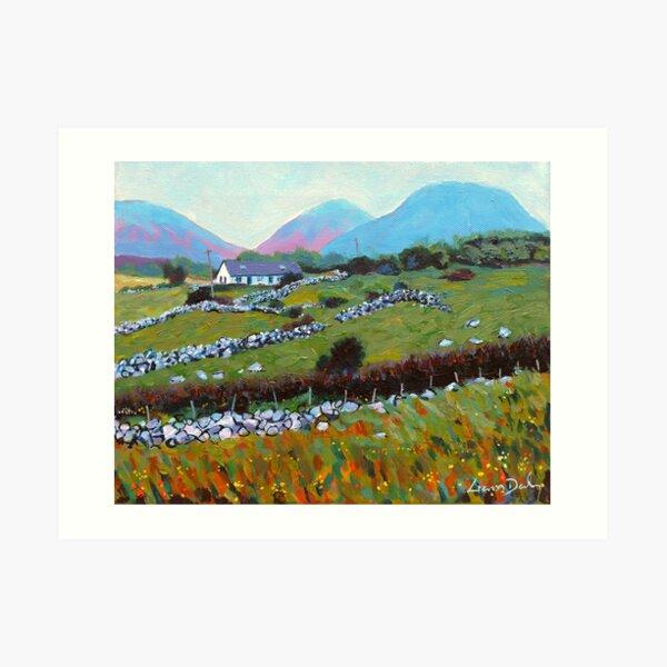 Connemara Cottage, County Galway, Ireland Art Print
