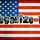 Legalize it american flag by Brett Gilbert