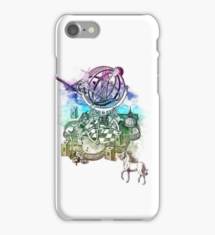 strange unicorn garden iPhone Case/Skin