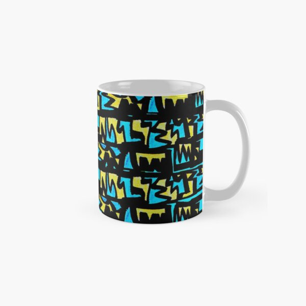 Graffiti Style yellow blue Classic Mug