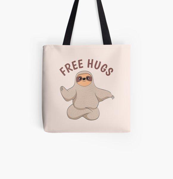Free Sloth Hugs All Over Print Tote Bag
