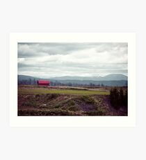 A Disrepaired Red Shack in countryside Hokkaido, Japan Art Print