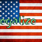 Legalize It American Flag 2 by Brett Gilbert