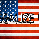 Legalize It American Flag 3 by Brett Gilbert