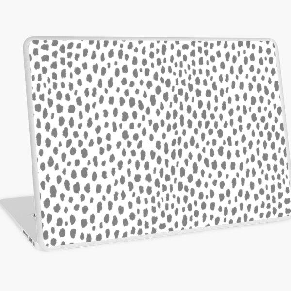 Gray Dalmatian Spots (gray/white) Laptop Skin