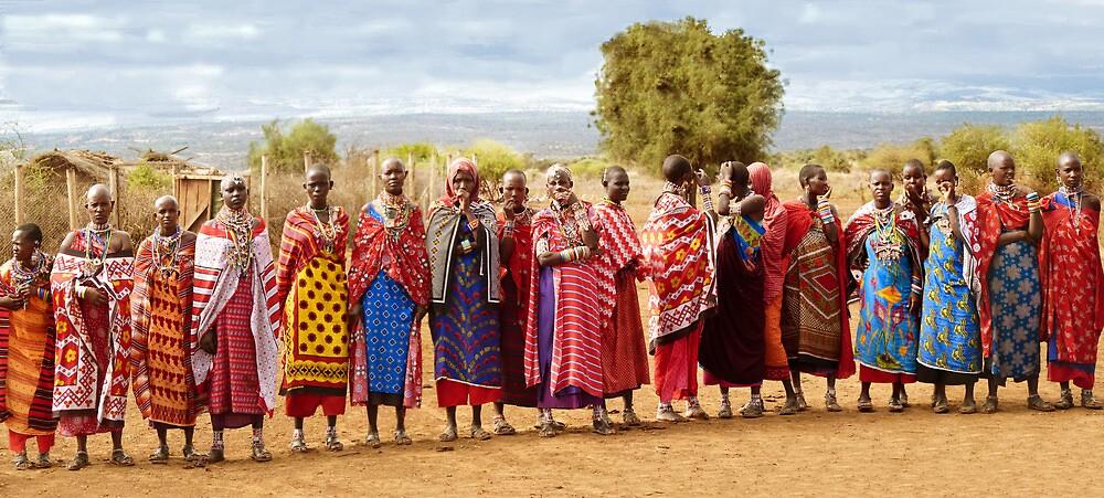 Maasai women by Linda Sparks