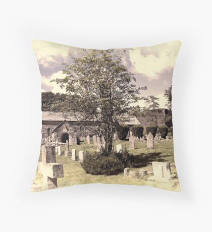 Lydford Church Throw Pillow