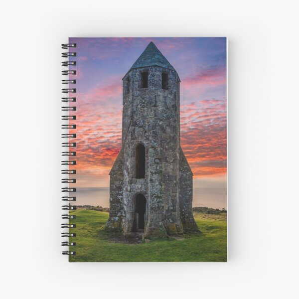 Sunset At St Catherines Oratory The Pepperpot Spiral Notebook