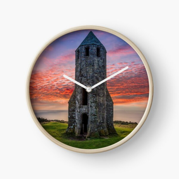 Sunset At St Catherines Oratory The Pepperpot Clock