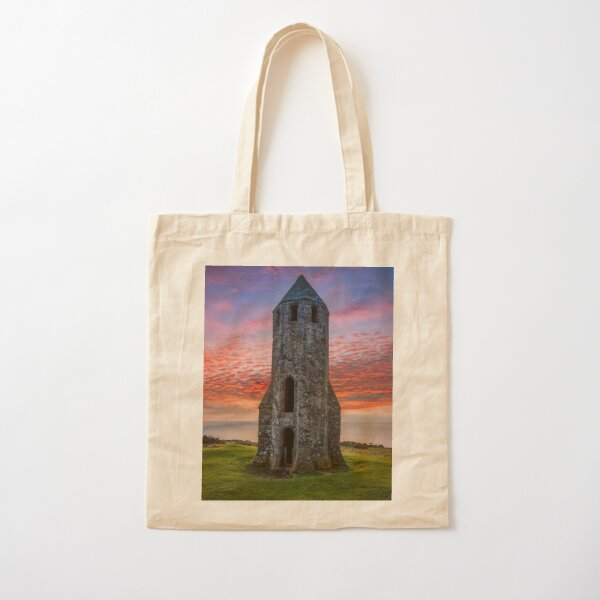 Sunset At St Catherines Oratory The Pepperpot Cotton Tote Bag