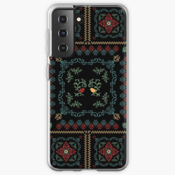 Romanian floral rug birds Samsung Galaxy Soft Case