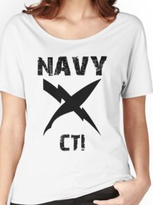 US Navy CTI Insignia - Black Women's Relaxed Fit T-Shirt