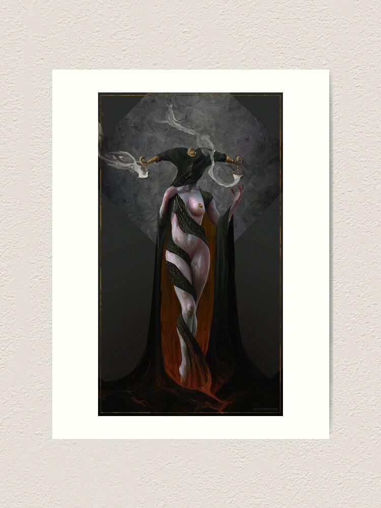 Impression artistique ''Pale sister ( 2 )': autre vue