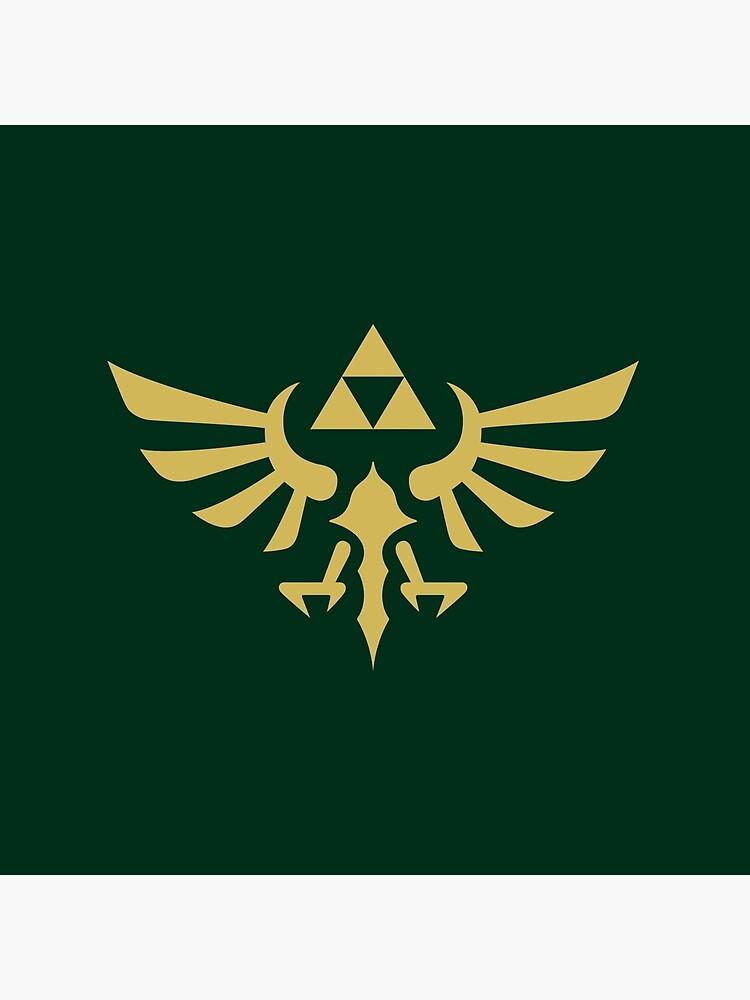 La leyenda de Zelda Royal Crest (dorado) de hopperograss