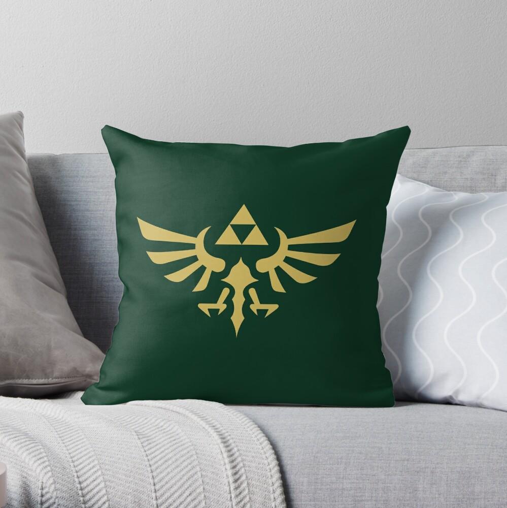 La leyenda de Zelda Royal Crest (dorado) Cojín