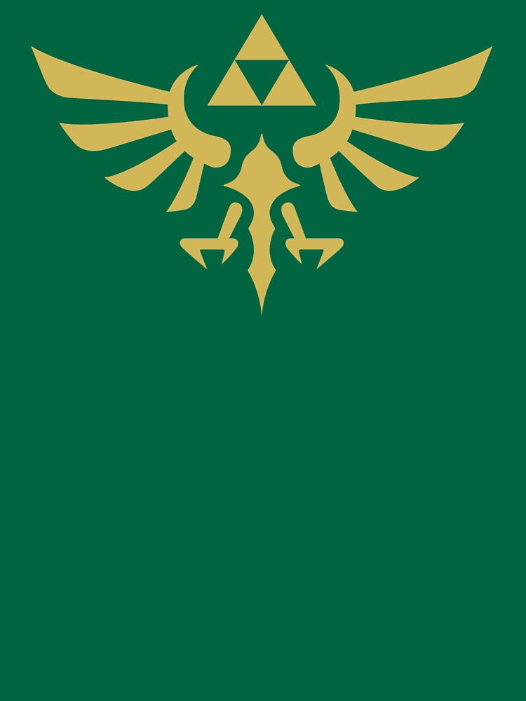 The Legend of Zelda Royal Crest (gold) by hopperograss