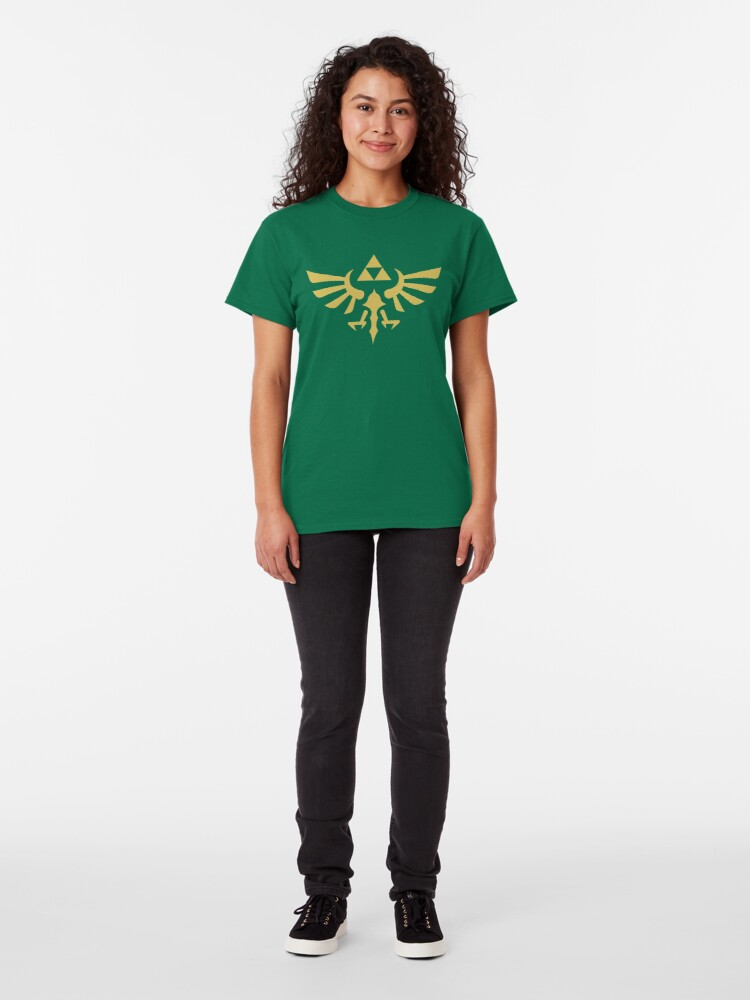 Alternate view of The Legend of Zelda Royal Crest (gold) Classic T-Shirt