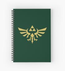 The Legend of Zelda Royal Crest (gold) Spiral Notebook